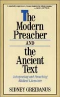 Cover Image: The Modern Preacher and the Ancient Text